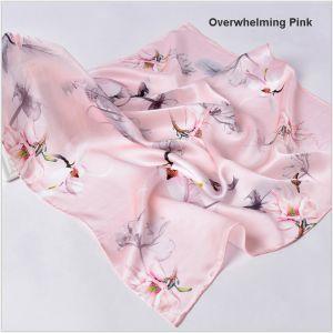 custom square silk printed scarves for women