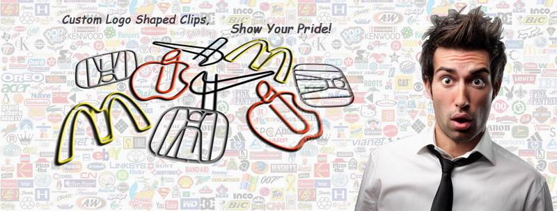 custom logo paper clips