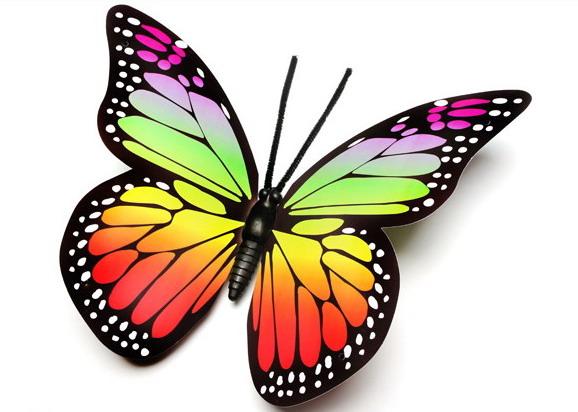 3d butterfly wall stickers, artificial butterflies