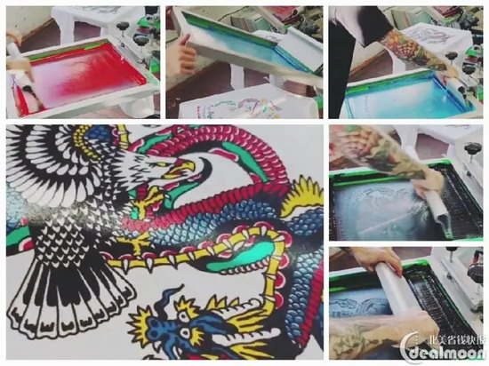 custom silk scarves in screen printing