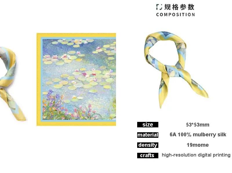 printed silk scarves in digital printing