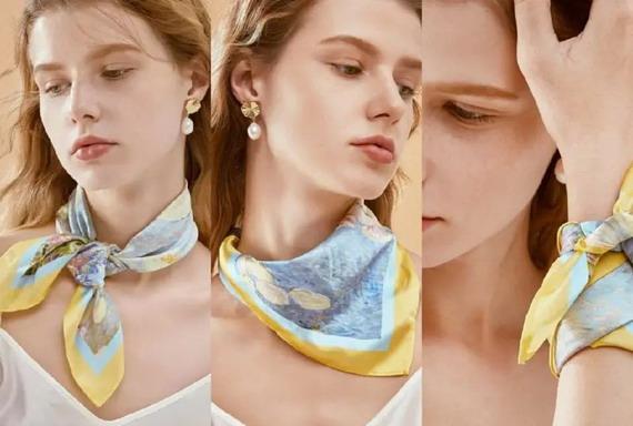 serging craft of printed silk scarves