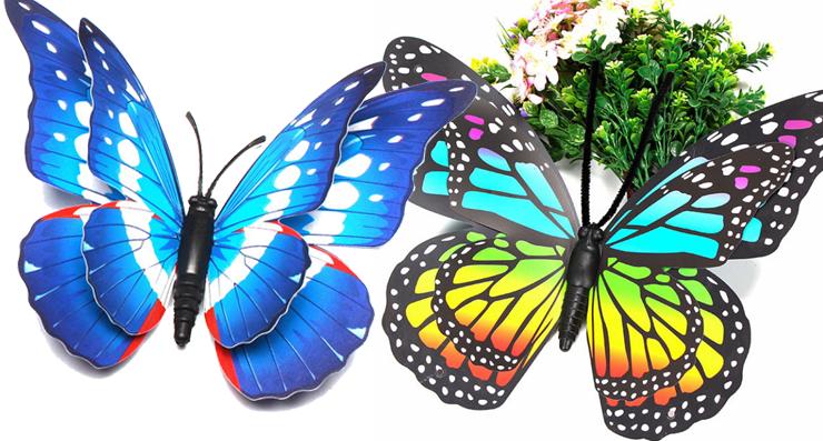 3d artificial butterflies decals